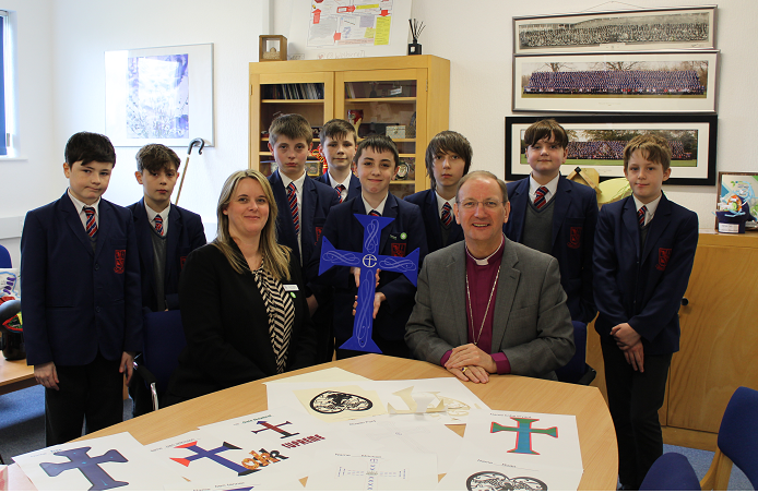 Year 8 Wellacre students with Principal Wicks and Bishop Mark crop.png