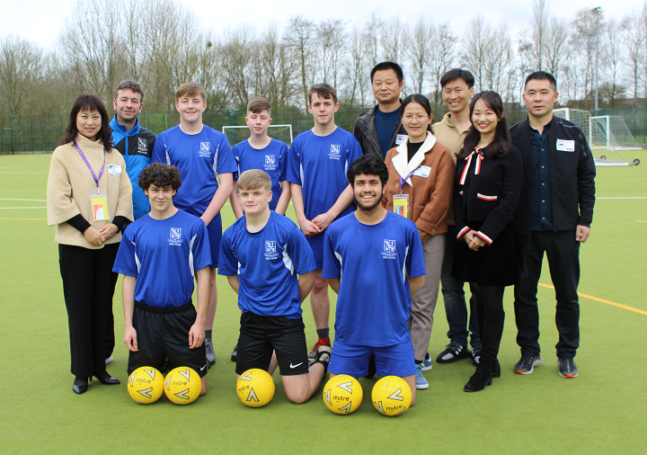 Chinese PE Teachers welcomed by Wellacre crop.png