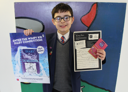 Diary of a Wimpy Kid competition winner